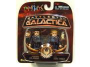 Battlestar Galactica Series 3 Minimates Adama & Thrace 9SIA0192081572