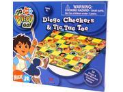 Image of Nickelodeon Checkers & Tic Tac Toe Game Diego