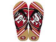 San Francisco 49Ers NFL Unisex Big Logo Flip Flops Small W 7 8