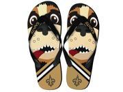 New Orleans Saints NFL 8 16 Youth Mascot Flip Flops Small 11 12