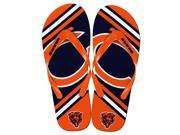 Chicago Bears NFL Unisex Big Logo Flip Flops Small W 7 8