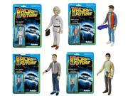 "Back To The Future Funko ReAction 3 3/4"""" Action Figures Set Of 4"" 9SIA0193KT3370"