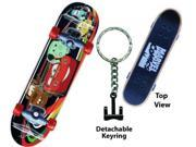Disney Cars 2 Mcqueen Friends Skateboard Key Ring