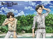 Wall Scroll - Attack on Titan - New Eren Levi on Shore Anime Fabric Art ge60843 9SIA77T2MH7158