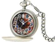 Doctor Who 50th Anniversary The Masters Fob Watch in Silver DR207