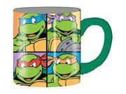 Mug - Teenage Mutant Ninja Turtles (TMNT) - Grid Green (Ceramic Coffee Cup, 14oz) 9SIA0422WA0792