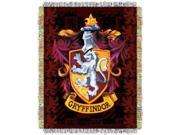Tapestry Throw - Harry Potter - Gryffindor''s Crest  Woven Blanket New 514195