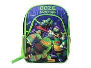 "Backpack - TMNT - Ninja Turtles 16"" w/1 front Zipper Pocket New KPNI"