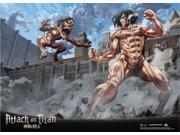 Wall Scroll - Attack on Titan - New Titan Eren Vs Titan Fabric Art Anime ge60826 9SIA77T2X58598
