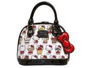 Tote Bag - Hello Kitty - Mutli Kitty White Embossed Mini Dome New santb1488