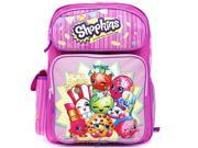 "Backpack - Shopkins - Pink Large School Bag 16"" New 415074"