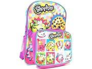Backpack - Shopkins - w/Lunch Bag Girls School New 413353