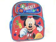 Small Backpack Disney Mickey Mouse M28 12 Red New 676469