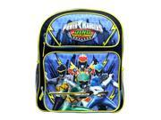 "Medium Backpack - Power Rangers - Dino Super Charge 14"" School Bag pr30279"