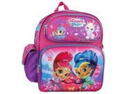 """Small Backpack - Shimmer and Shine - Pink 12"""" School Bag New 680848"""