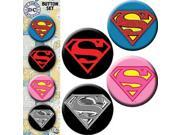 Button - DC Comic - Superman Logo Set of 4 Pin Pack Toys New 9SIA77T2M88005