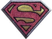 Patch - DC Comics - Superman Logo Glitter Silver/Black Border 9SIA77T6Y84620