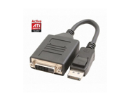 New Black ATI Active DisplayPort DP to Single Link DVI -D adapter cable