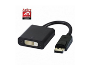 Black DisplayPort DP to DVI Single Link Active Video cable adapter support ATI Eyefinity 3 screens