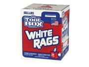 6/PACK SELLARS WIPERS & SORBENTS 58202 TOOLBOX Z400 WHITE RAGS- 200CT