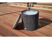 Surreal Planters Fake Oak Stump Cooler with Realistic Log Bark O90-COOLER