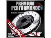 Prime Choice Auto Parts PR64019L Rear Drivers Side Performance Drilled And Slotted Brake Rotor