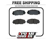 Prime Choice Auto Parts PCD1210 Set Of Performance Front Ceramic Disc Brake Pads With Rubberized Shims