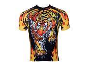 KMFEIL Roaring King Of Beasts Tiger Mens Cycling Jersey Biking Rider Apparel Top