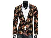 KMFEIL Men Fashion Korean Slim Fit Single breasted Casual Suit Jacket