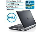 Dell Latitude E6420 Premium-Built 14.1-Inch Business Laptop (Intel Core i5 2.5GHz with 3.2G Turbo Frequency, 16GB RAM, 120GB SSD, Windows 7 Professional 64-bit)