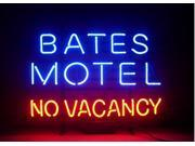 Fashion Neon Sign Bates Motel No Vacancy Handcrafted Real Glass Lamp Neon Light Neon Sign Beerbar Sign Neon Beer Sign 19x15 9SIA7AE2NM7317