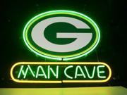 Fashion Neon Sign GREEN BAY PACKERS MAN CAVE Handcrafted Real Glass Lamp Neon Light Neon Sign Beerbar Sign Neon Beer Sign 19x15 9SIA7AE2T64956