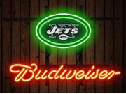 Fashion Neon Sign Budweiser New York Jets Handcrafted Real Glass Lamp Neon Light Neon Sign Beerbar Sign Neon Beer Sign 19x15 9SIA7AE2YW5611