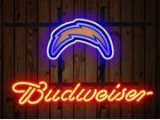 Fashion Neon Sign Budweiser San Diego Chargers Handcrafted Real Glass Lamp Neon Light Neon Sign Beerbar Sign Neon Beer Sign 19x15 9SIA7AE2YW5780