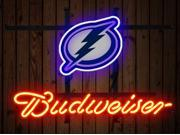 Fashion Neon Sign Budweiser Tampa Bay Lightning Handcrafted Real Glass Lamp Neon Light Neon Sign Beerbar Sign Neon Beer Sign 19x15 9SIA7AE2Z09810