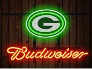 Fashion Neon Sign Green Bay Packers Budweiser Real Glass Lamp Neon Light Neon Sign Beerbar Sign Neon Beer Sign 19x15 9SIA7AE33B0478