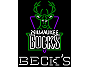 Fashion Neon Sign Becks Milwaukee Bucks Handcrafted Real Glass Lamp Neon Light Neon Sign Beerbar Sign Neon Beer Sign 32x24 9SIA7AE34X9881