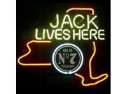 Fashion Neon Sign New Jack Daniels Jack Lives New York Whiskey Handcrafted Real Glass Lamp Neon Light Neon Sign Beerbar Sign Neon Beer Sign 19X15 9SIA7AE3590613