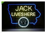 Fashion Neon Sign New Jack Daniels Lives Here Iowa Handcrafted Real Glass Lamp Neon Light Neon Sign Beerbar Sign Neon Beer Sign 24x20 9SIA7AE3590618