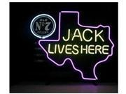Fashion Neon Sign New Jack Daniels Lives Here Texas Old #7 Whiskey  Neon Light Sign Handcrafted Real Glass Lamp Neon Light Neon Sign Beerbar Sign Neon Beer Sign 9SIA7AE35K4271