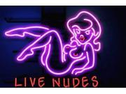 Fashion Handcrafts Lives Nudes Bar Girl Handcrafted Neon Light Sign 19 X 15! Best Offer! 9SIA7AE4WB5004