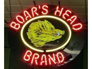 Fashion Neon Sign Boars Head brand Handcrafted Real Glass Lamp Neon Light Neon Sign Beerbar Sign Neon Beer Sign24x20