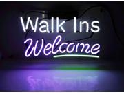 """Fashion New Handcraft """"""""Walk Ins Welcome""""""""Real Glass Tubes Neon Light Sign 14x7!!! Best Offer!"""" 9SIA7AE5CJ1767"""