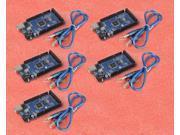 5pcs Funduino Mega 2560 ATmega2560 16AU Board Arduino compatible USB Cable