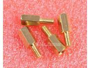 25pcs M3 Male 6mm x M3 Female 8mm Brass Standoff Spacer M3 8+6