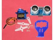 180 Degree Distance Detection SG90 Servo + HC-SR04 + Blue Fix Bracket