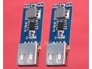 2pcs DC-DC 3V/3.3V/3.7V/4.2V to 5V USB 2A Step Up Power Module Vehicle Charger