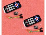 2pcs Infrared Wireless Remote Control Kits for Arduino AVR PIC NEW