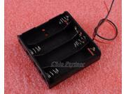 5PCS 4XAA 4×AA 4XAA(6V) 6V 4*AA(6V) 4*AA Battery Holder Box Case w/ Wire
