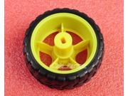 2pcs Small Smart Car Model Robot Plastic Tire Wheel 66mm x 26mm